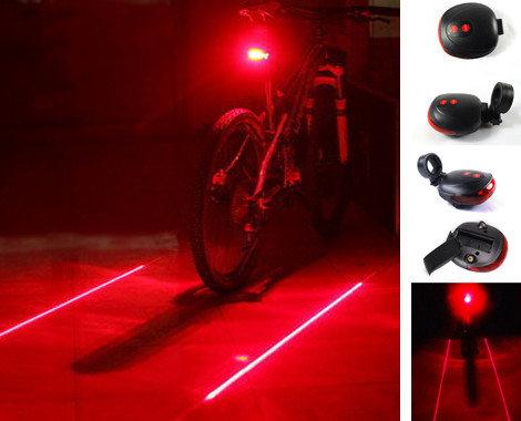 Задний фонарь-габарит BicycleLight 5 диодов + 2 лазера
