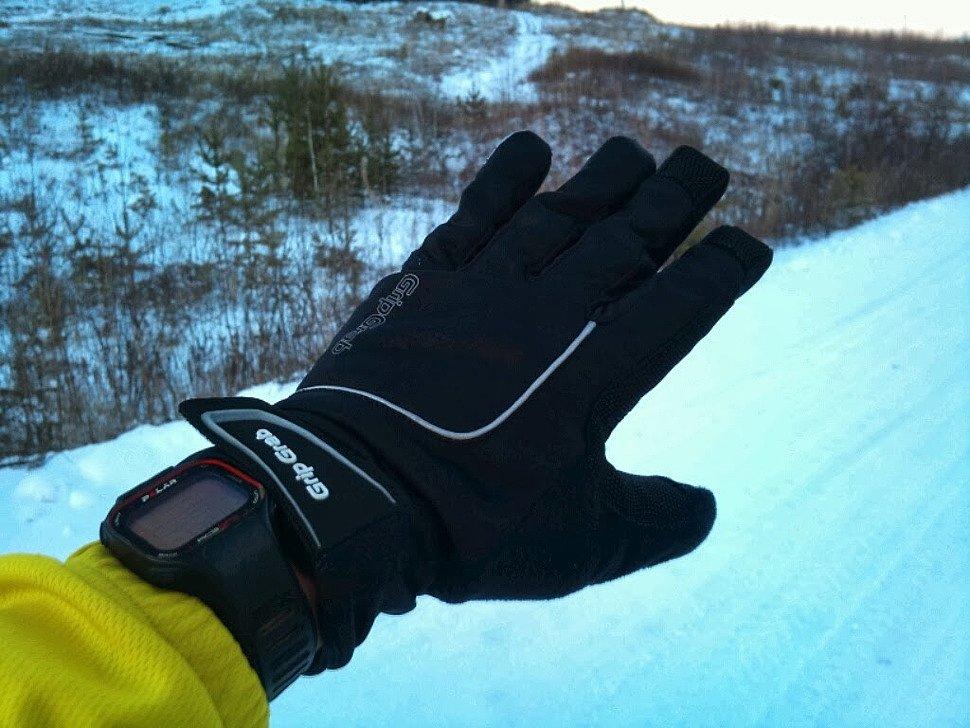 Перчатки Polaris. На улице -10 градусов.