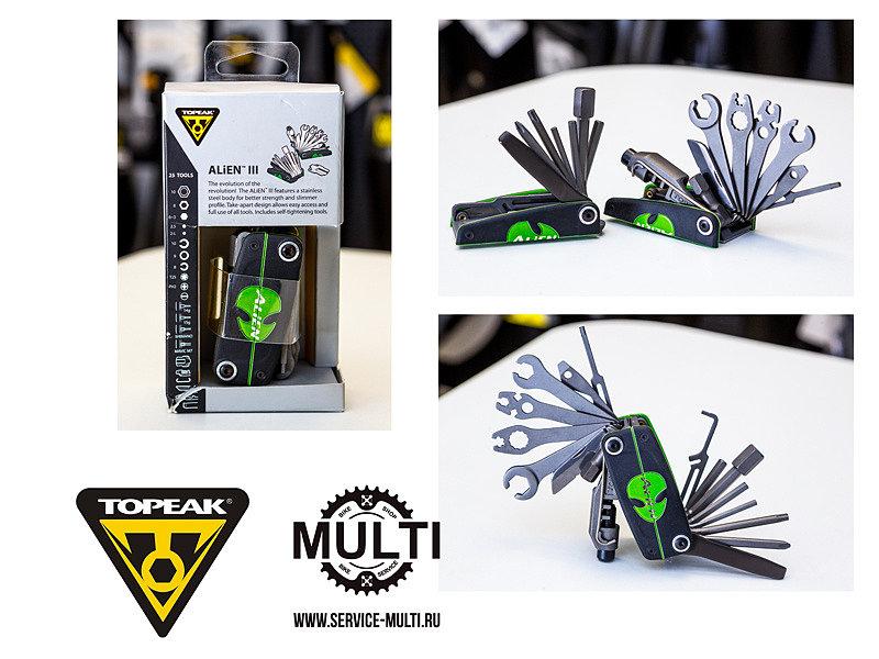 Инструмент мультитул Topeak ALiEN™ III 25 Tools 272 g
